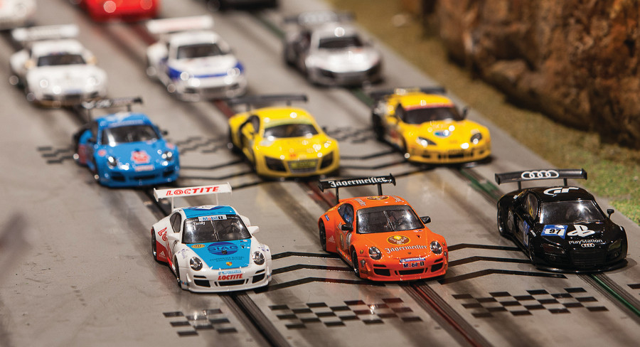 Carrera Slot Cars on track