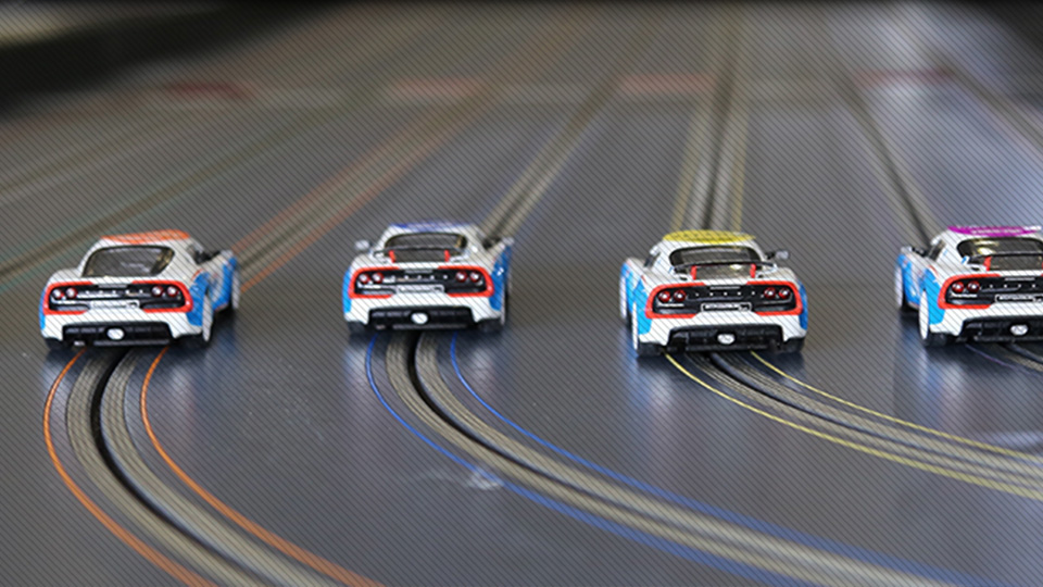 Slot Cars on a Track